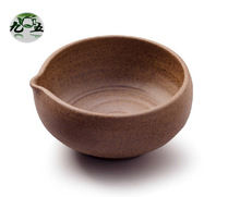 Superfine Matcha Bowl, With cute smooth mouth, Ceramic Japanese Tea Accessories;  Brown color
