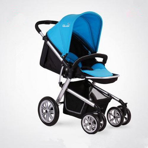 2015 Brand Gubi Baby Stroller 4 Wheels High Landscape Luxurious Shockproof Light Infants Carriage Foldable Baby Pram(China (Mainland))