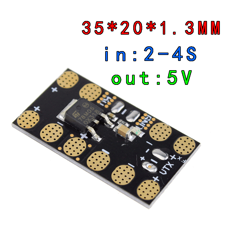 FPV CC3D Flight Controller Power Distribution Board with 5V/12V BEC Output LED Switch for QAV250 Quadcopter Airplane(China (Mainland))