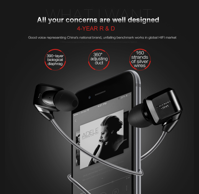VSONIC 2018 NEW GR07 BASS / GR07 CLASSIC with Interchangeable cable Version Professional Noise-Isolation HIFI Earphones
