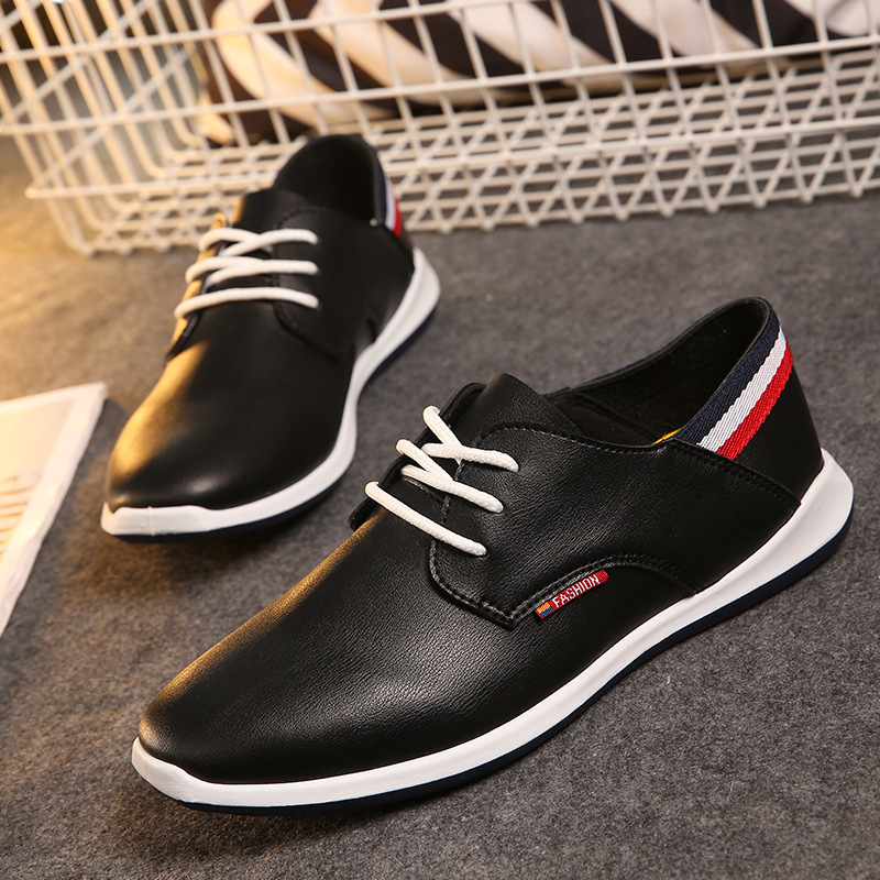 Men Casual Shoes 2016 Name Brand Shoes Formal Dress Shoes Men New Style Rubber Flats Soft Leather Shoes Zapatillas Hombre AL17(China (Mainland))