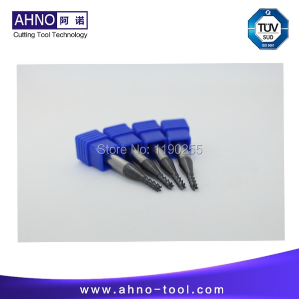5pcs/lot D1.0mmx3mmx50mm 4 Flutes used carbide insert end mill cutter Free shipping(China (Mainland))