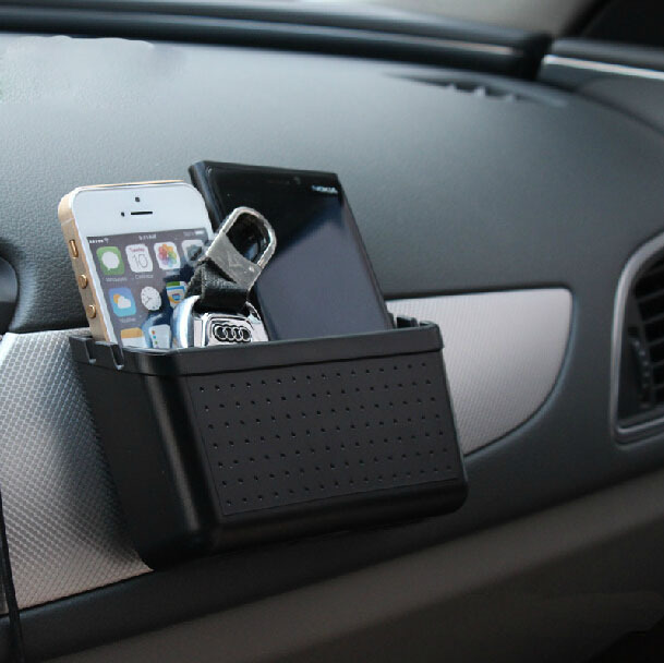 Car Storage Box Mobile Phone Holder Bluetooth Pylons Multi-use Tools Car Containers Pocket Organizer Accessories #HP(China (Mainland))