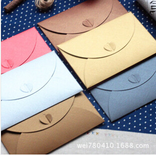2015 Promotion Top Fasion Ordinary Paper Paper Envelopes Card Bag Mini Invitation Envelope Case Heart Personalized Business(China (Mainland))