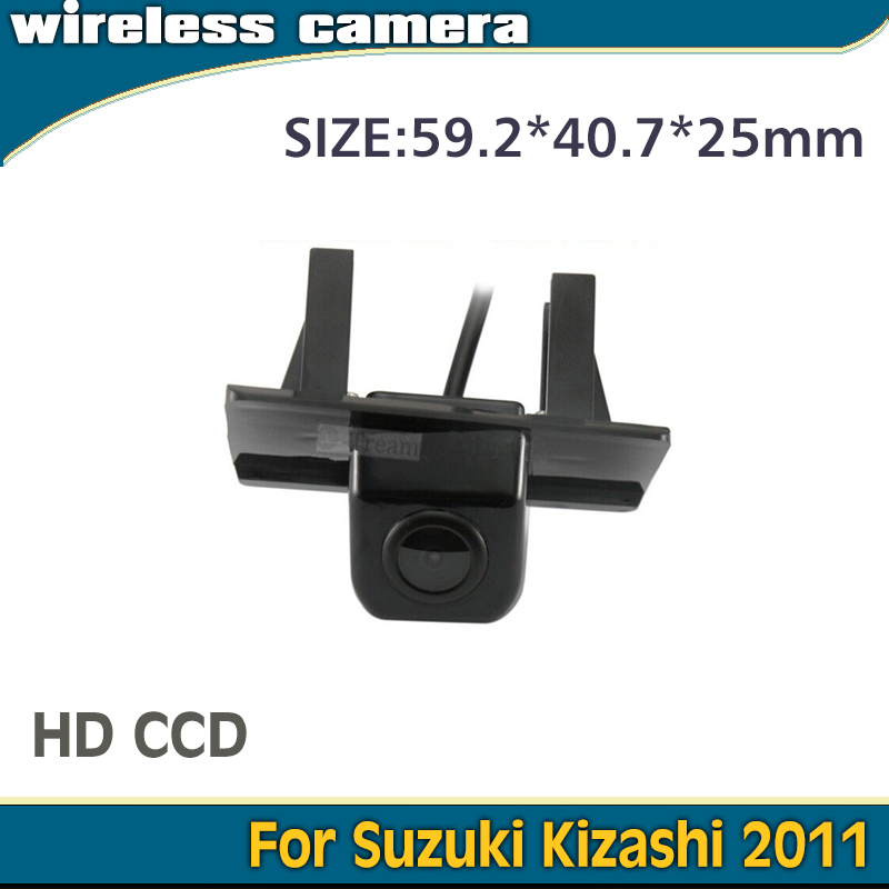 With 2.4Ghz Receiver and Transmitter Wireless rear view reverse camera for Kizashi camera 2011 car parking waterproof HD CCD(China (Mainland))