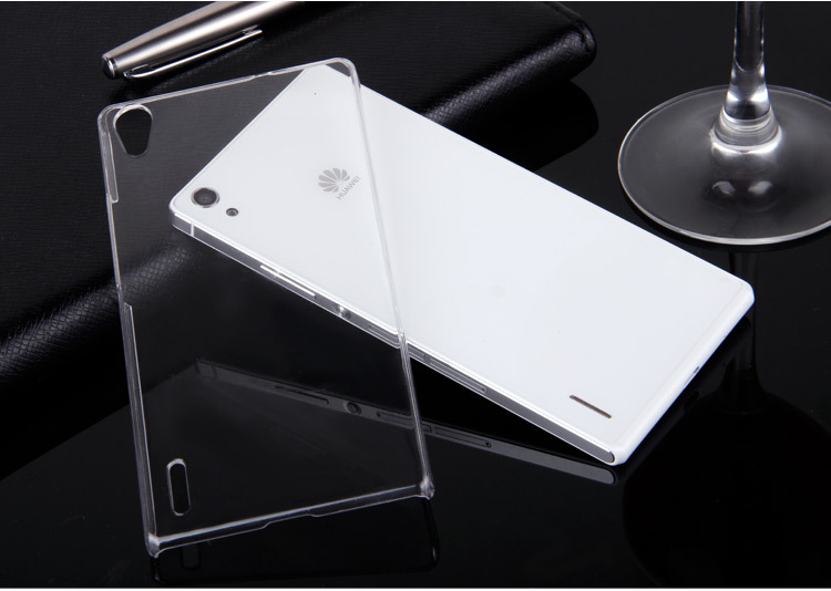 Huawei Ascend P7 hard back transparent PC cases cover , protective phone case shell MOQ : - New Style store