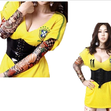 More 24 Styles Have In Stock  2 Pcs/lot 2016 New Punk Cool Fake Nylon Tattoo Sleeve Arm Warmers For Women/men Free Shipping(China (Mainland))