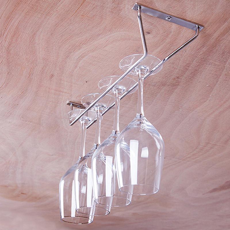 27 35 55cm Wine Glass Hanger Rack Stemware Home Pub Bar Holder Chrome Plated UK