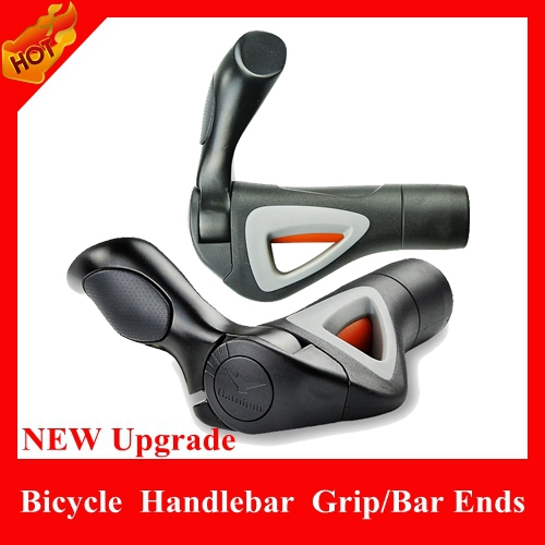 HOT selling High-strength aluminum Horns Grips rubber Grips, Bicycle Handlebar Ergonomic handlebar Ends Parts - HiCoo Global Trade Co., Ltd store