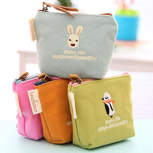 2016 Cute Rabbit Pattern Mini Coin Purse Handbag Canvas Pouch Wallet Money Bag Case <br><br>Aliexpress
