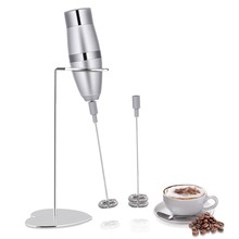 Liquidificador o leite-Batedor de Leite, Handheld Elétrico Gerador De Espuma Para Fazer Lattes Café, Cappuccinos, Chocolates Quentes, como Desnatadeira Um(China)