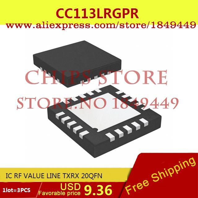 Free Shipping Diy Kit Electronic Production CC113LRGPR IC RF VALUE LINE TXRX 20QFN 113 CC113 3PCS(China (Mainland))
