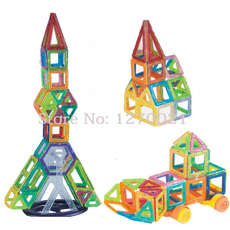 84PCS Mini Magnetic Construction Building Blocks Set Model & Building Toy Educational Magnetic Designer Blocks Kids Gift(China (Mainland))