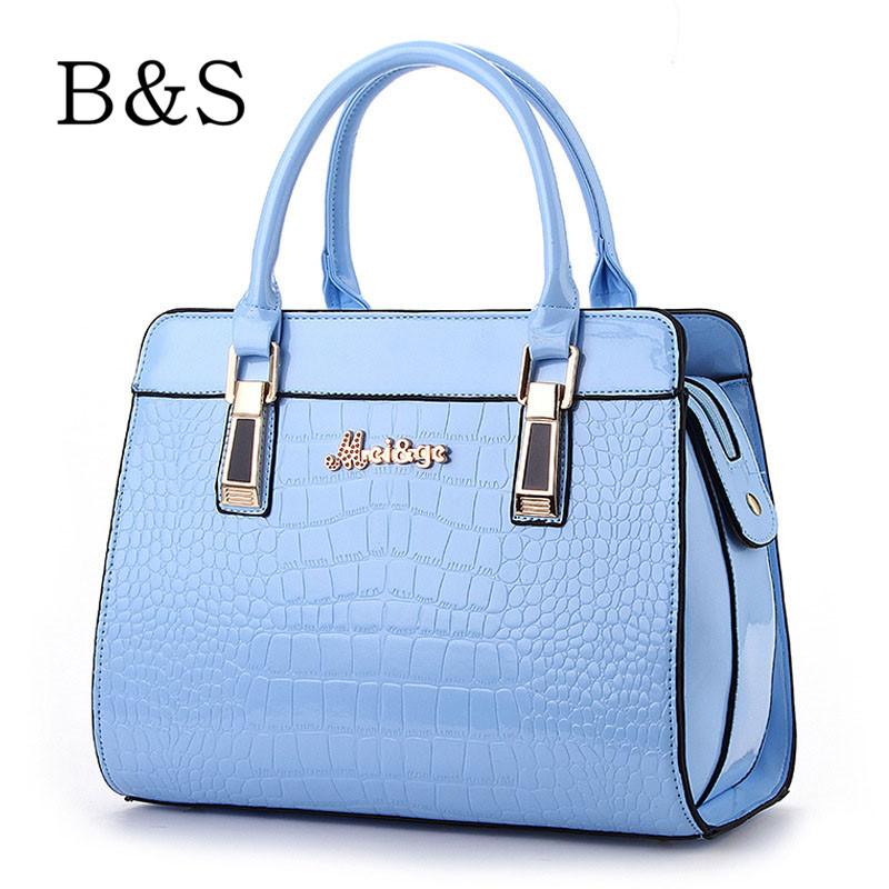 Luxury Handbags Women Bags Designer Crocodile Grain Leather Women Shoulder Over Bag Portable Female Famous Brand Cross-Body 2016(China (Mainland))