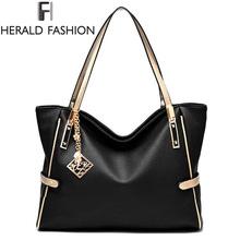 High Quality PU Leather Women Messenger Bag Big Shoulder Bag Large Capacity Totes Famous Brand Bolsa Feminina Herald Fashion New(China (Mainland))
