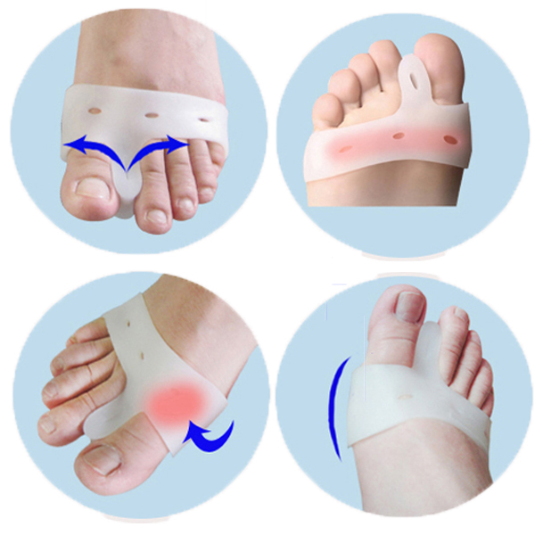 1pair Relief Health Care Products Silicone Gel Toe hallux valgus Separators Straighteners Bunion - Zhoufaying store