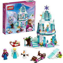 316pcs Princess Elsa's Sparkling Ice Castle Building Blocks Anna Olaf Minifigure Bricks Toys Compatible Legoe Friends for Girl(China (Mainland))