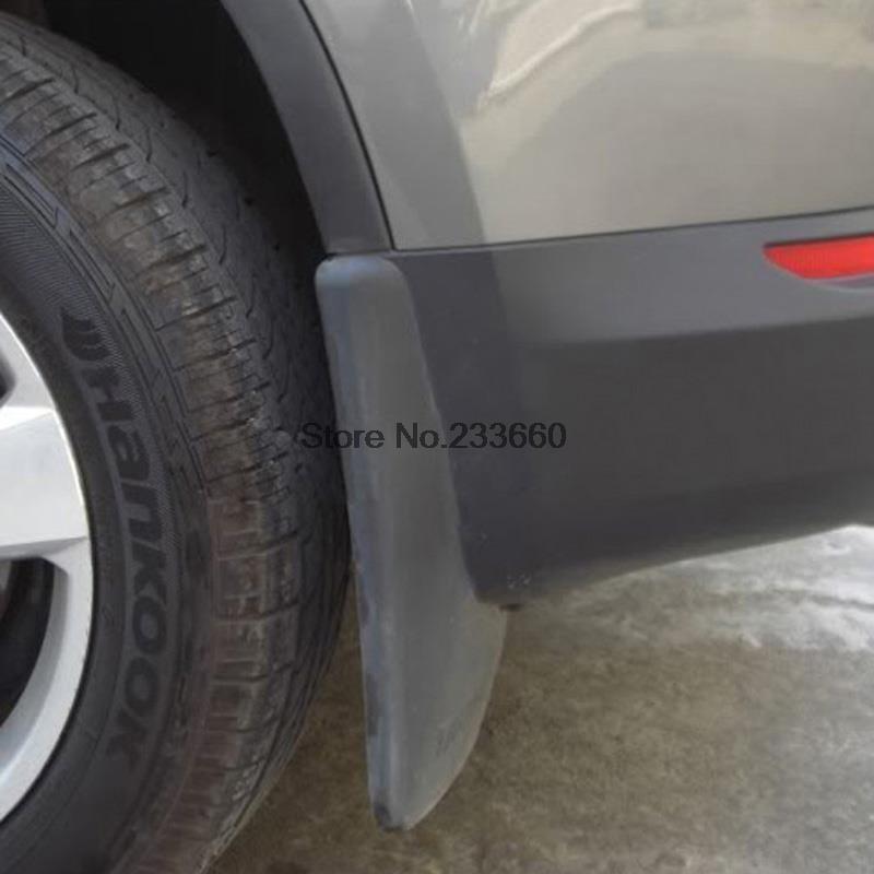 Fit For Volkswagen VW Tiguan 2009 2010 2011 2012 2013 2014 Black Plastic Splash Guards Car Fenders Mudguards Auto Parts(China (Mainland))