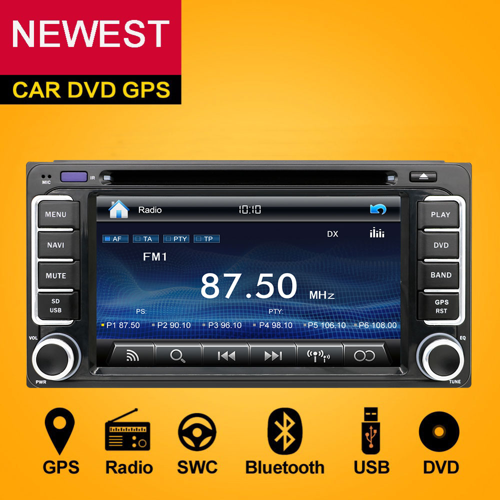 2 din car dvd radio gps hd for toyota hilux vios old camry corolla prado rav4 prado 2003 2004. Black Bedroom Furniture Sets. Home Design Ideas