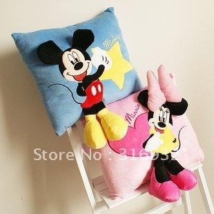 J2 Super cute new style mickey 3D plush pillow,30*30cm, 1 piece