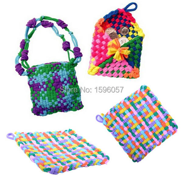 DIY Loop 'N Weave Handmade Quick Accessories Knit Potholder Purse Craft Kit Educational Toy Gift for Kids(China (Mainland))
