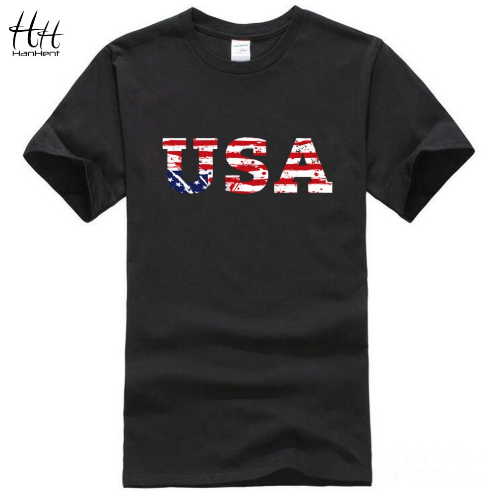 HanHent USA american flag t shirt sports Men Jersey 2016 New fashion basketball t -shirt fitness short-sleeved men's clothing(China (Mainland))