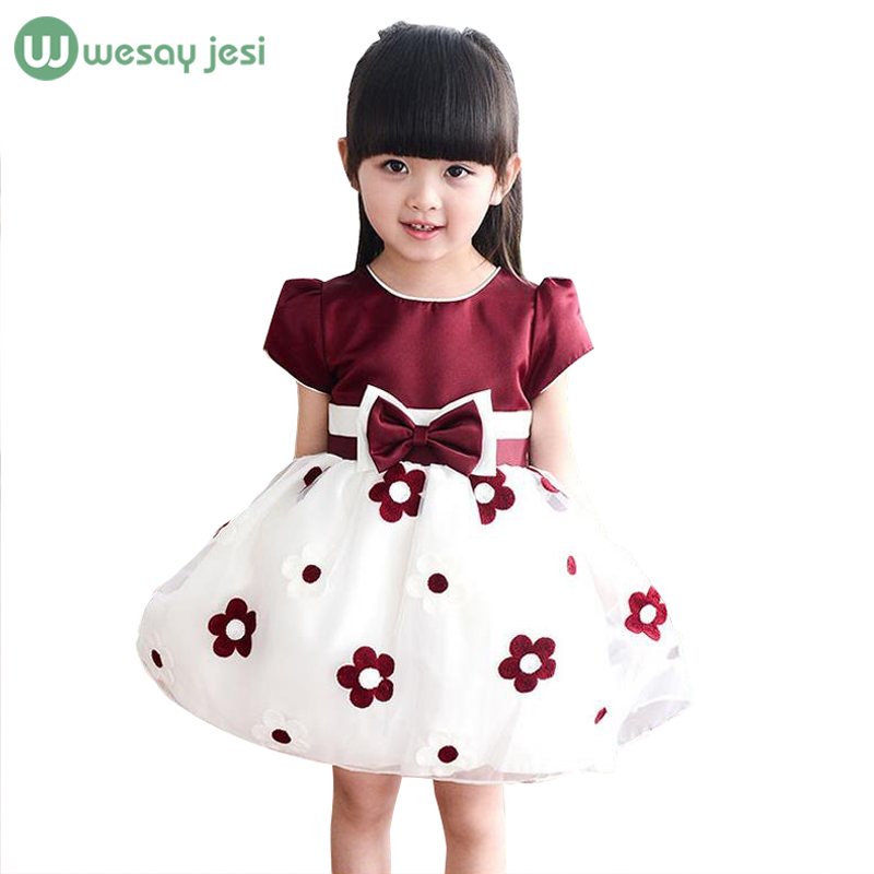 Buy girls dresses summer 2016 brand flower girl dresses 2 8 years baby