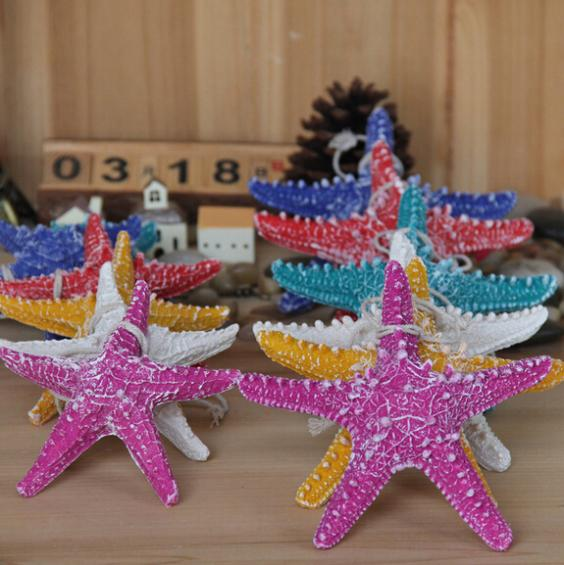 Mediterranean style resin starfish fingers, hangings wall stickers kawaii vintage home decor, set / - Online fashionable shop store