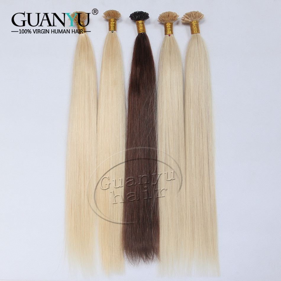 9A Peruvian Virgin Remy Fusion Hair Extensions, U Tip Hair Extensions, Peruvian Remy Human Hair Keratin Hair Extension