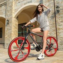 Высокое качество горный велосипед 26 Fatbike21/24/27 Скорость амортизатор горный Велосипеды двухдисковые тормоза велосипеда Бесплатная доставка(China)