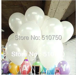 100pc 1.2g 10inch White Latex Helium Balloon Pearl Balloon Party Wedding Birthday Decoration Kids Gift Toy Hot sale(China (Mainland))