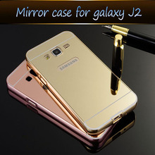 Buy Phone Case Samsung Galaxy J3 J3109 Bling Metal Aluminum Frame Bumper Mirror Surface Back Cover Cases Galaxy J 3 for $4.13 in AliExpress store