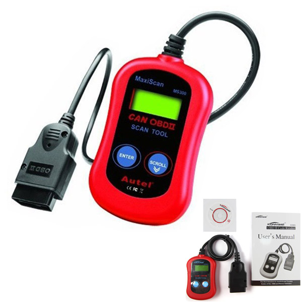 by dhl or ems 50 pieces Autel MaxiScan MS300 CAN OBD II OBD2 Multi-Language Car Scan Tool(China (Mainland))