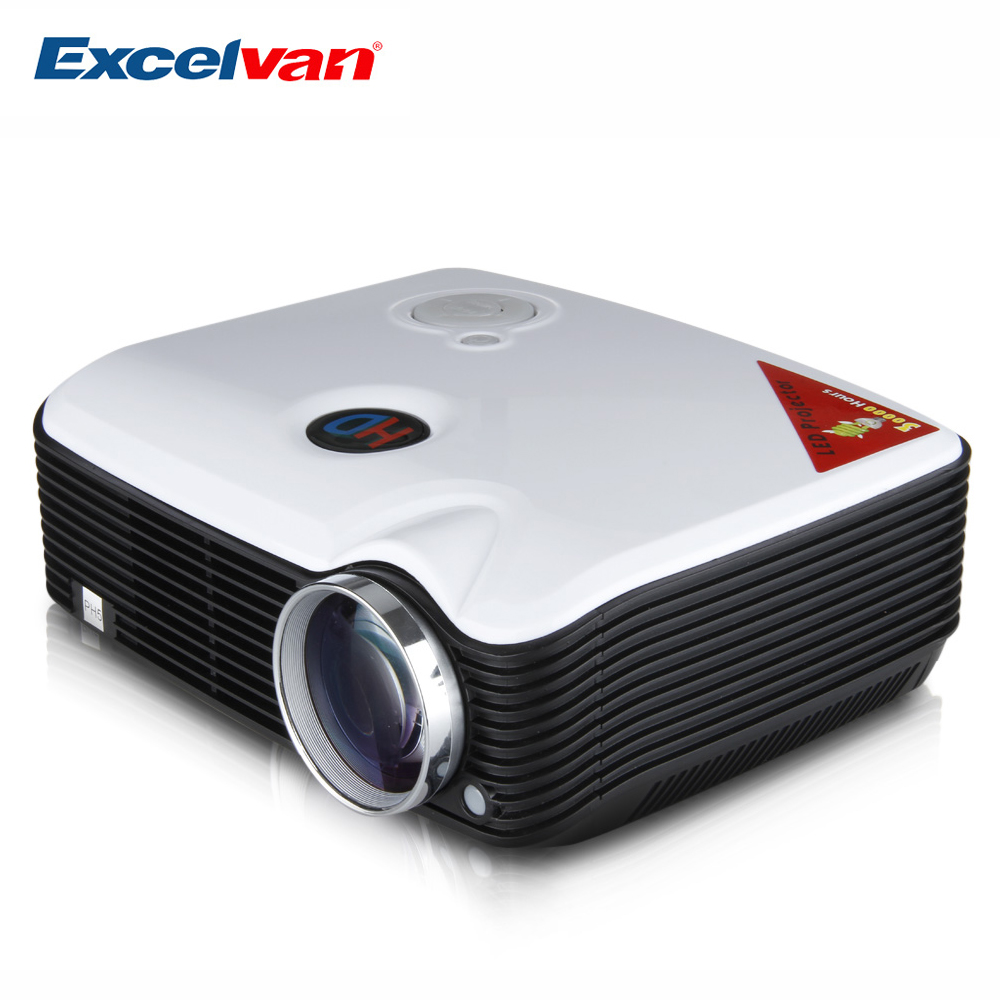 Excelvan PH5 Projector 2500 Lumens Multimedia Projector Home Cinema AV/TV/VGA/HDMI for DVD/PC/Tablet Support 1080P Proyector(China (Mainland))
