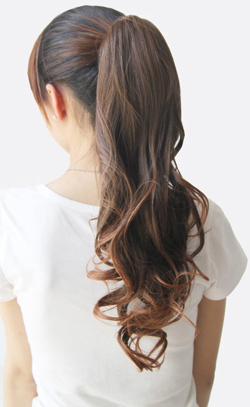 Lovely Short Wavy Women Girl Ponytail Claw Clip Hair Hairpiece Wig(China (Mainland))