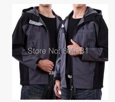 outdoor man's soft shell fleece jacket windproof waterproof clothing Men's sportswear tourism coat - store