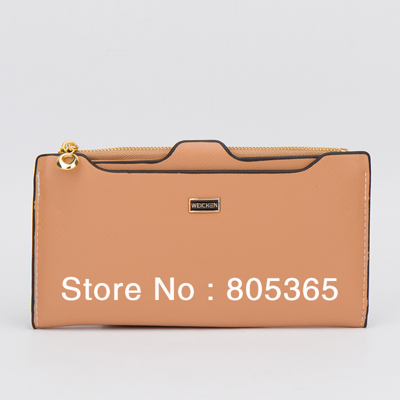 Simple Fashion women's PU Leather Clutch Solid color Lady Purse card holders Wallet Evening Bag - L&P Co., Ltd. store