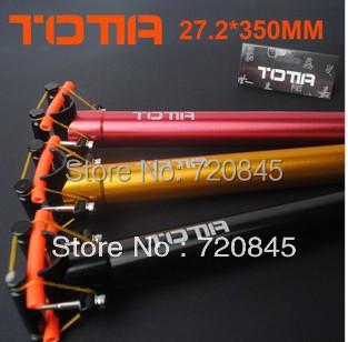 Гаджет  Mountain bike bicycle seat tube bike seat post 3 colors 27.2*350mm  None Спорт и развлечения