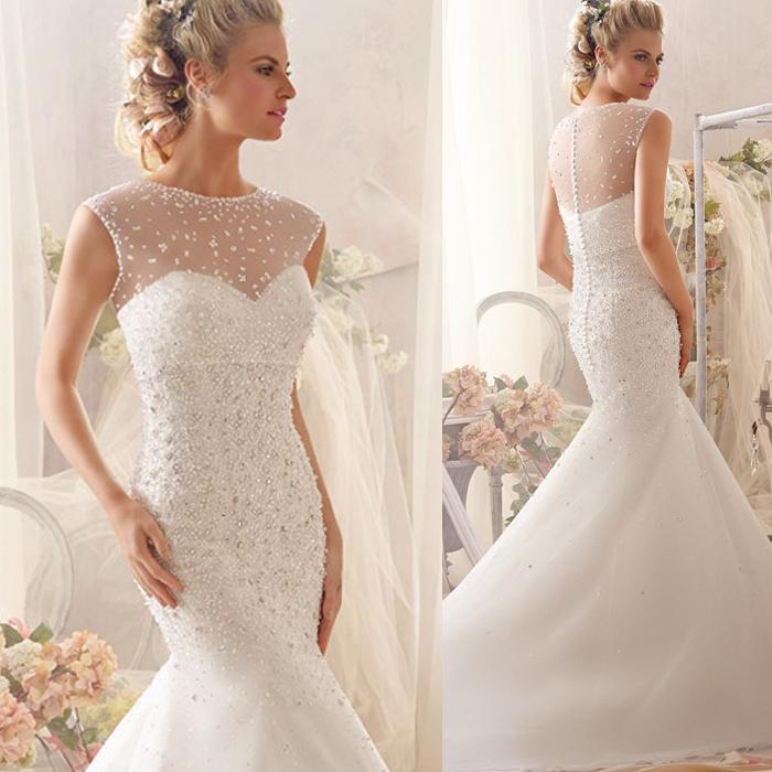 Buy besfine vestidos de noivas sexy for Wedding dress with see through back