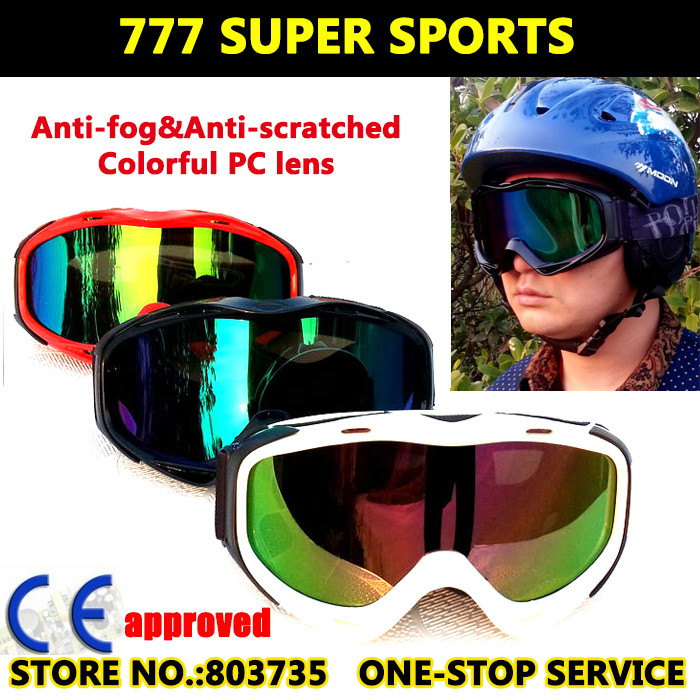 Skiing Goggles Snowboard Eyewear Motor Gafas Ski Skateboard Glasses Sport Gear White/Black/Red(China (Mainland))