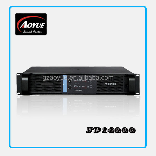 Guangzhou manufactuer FP14000 Powerful Pro pa subwoofer power amplifier with new blue front face(China (Mainland))