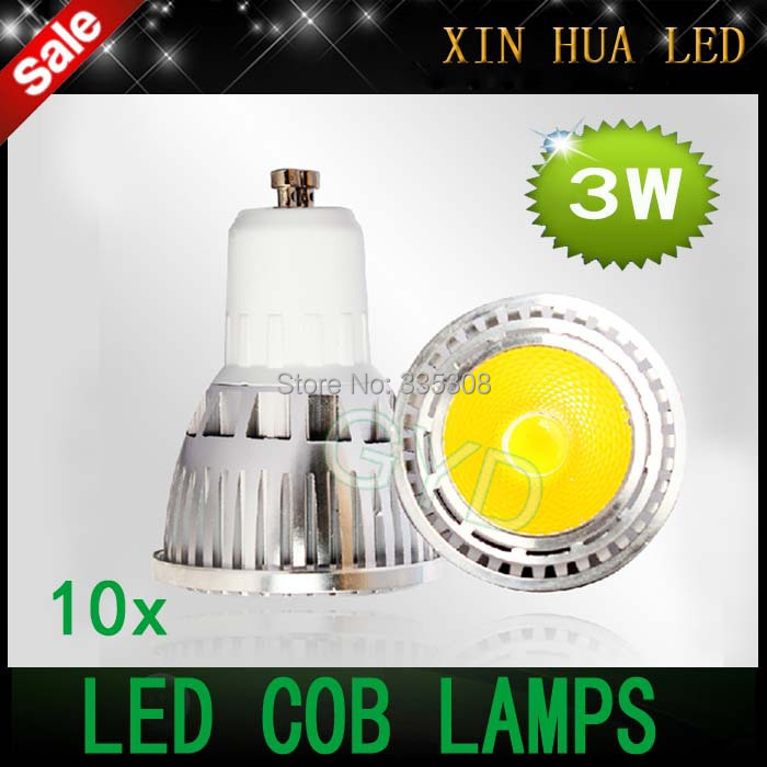 1 High Bright 3w LED COB SpotLight Bulb GU10 GU 10 Cool White/Warm White AC85-265V lamp Lighting Epistar - Xin Hua Electrical Store store