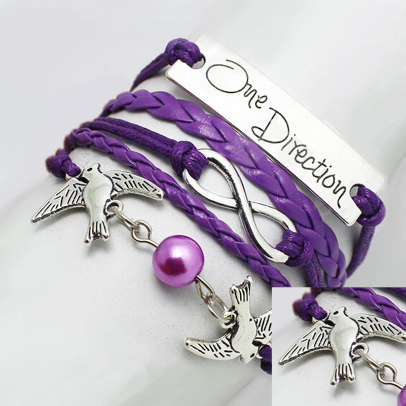 Bridal 100% Brand New Jewelry Surfer Silver Leather Cuff Handmade Women Bracelet(China (Mainland))