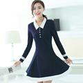 Korean Fashion Autumn Girls Shirt Dress Long Sleeve Teen Girl Spring Clothes Peter Pan Collar Cute