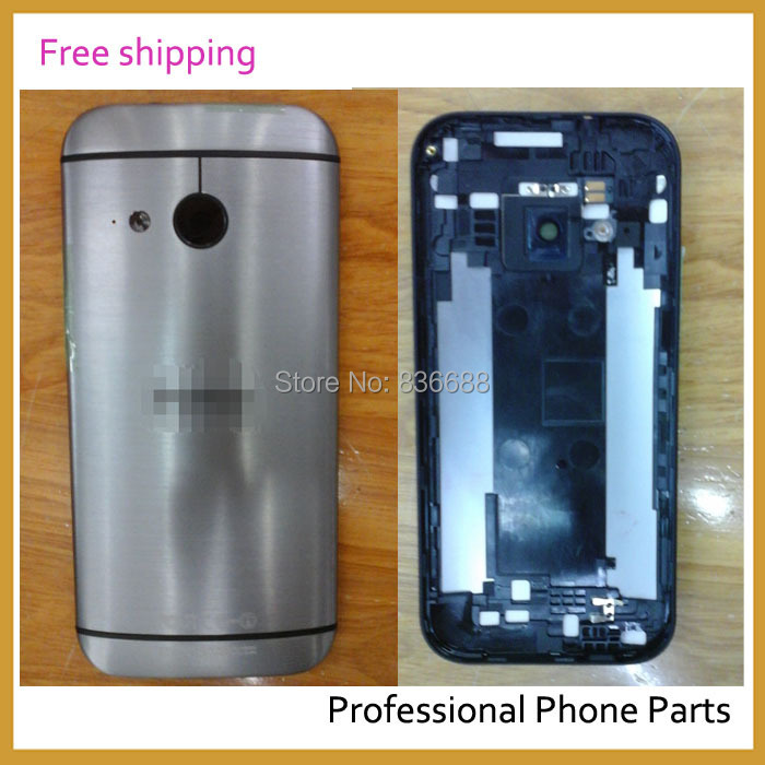 100% Original New Battery Door  Back Cover Case Housing  For HTC One mini 2  Dark Sliver Color ,Free / Drop  Shipping