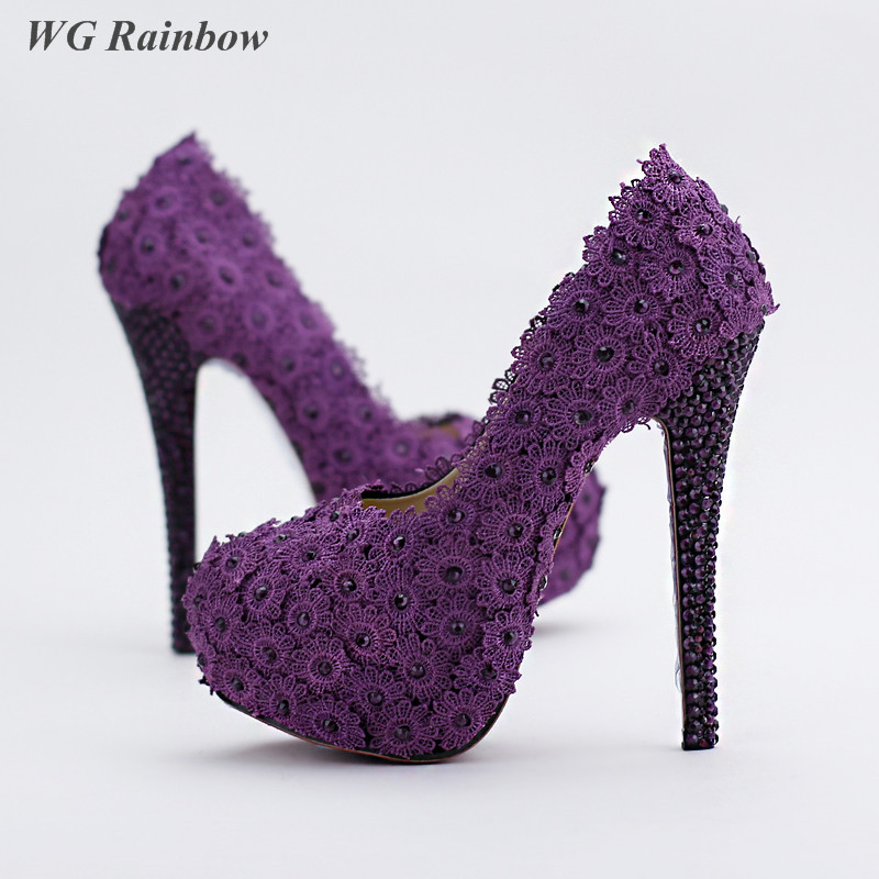 High Quality Purple High Heel Wedding Shoes-Buy Cheap Purple High