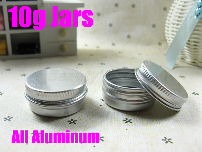10g Aluminum jars cosmetic can make containers refillable bottle Empty small jar #2226 - Packing Supplier(Bottles and Jars store)