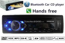 New arrival Car radio 12V cd mp3 player audio dvd bluetooth answer hang up phone usb mp3,dvd/cd/FM radio free shipping(China (Mainland))