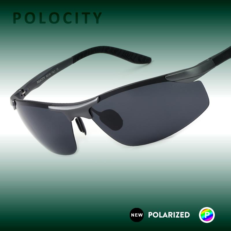 2082 HD Polarized Original Sunglasses Aluminum Magnesium Mirror Men Brand Logo Sport Driving 57MM Glasses Goggles Oculos De Sol(China (Mainland))