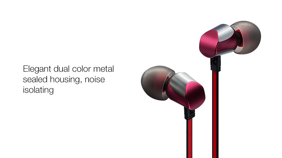 GGMM Cuckoo Earphone Earphones In Ear Headset Noise-Isolating Earbuds Metal Sports Wired Stereo Earphone for iPhone Mobile Phone